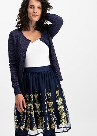 tirilie tuilerie skirt, ice floral tulle, Webröcke, Blau