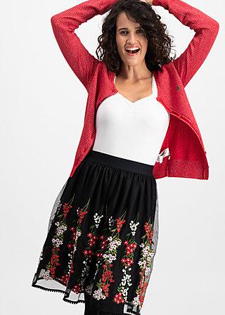 tirilie tuilerie skirt, night floral tulle, Webröcke, Schwarz