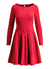 true romance robe, dots of love, Jerseykleider, Rot
