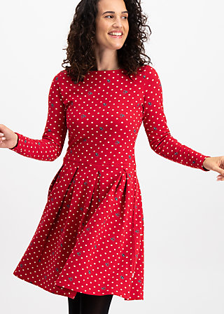 true romance robe, dots of love, Jersey Dresses, Rot