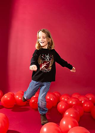Kinder-Shirt rockstarpose, black star, Shirts, Schwarz