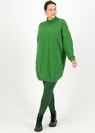 Turtleneck Jumper straight n easy turtle, green classic, Green