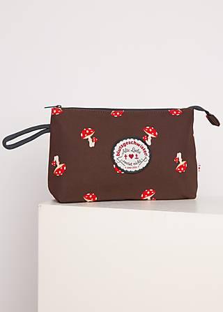 Kosmetiktasche sweethearts washbag, mushroom in the wood, Accessoires, Braun