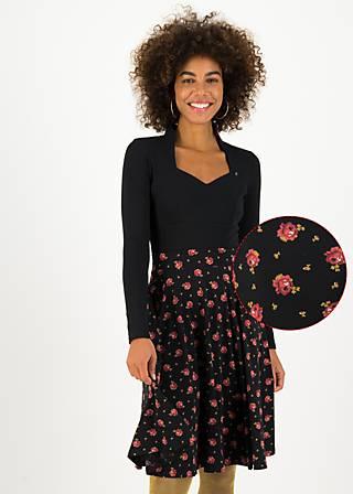 Circle Skirt wooden heart circular, romy rose, Skirts, Black