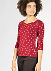 bettys best tee, red lady rose, Shirts, Rot