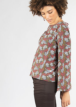 chorus of lovers blouse, petite flower puree, Blouses, Blau