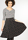 everybody dance skirt, black lady rose, Röcke, Schwarz
