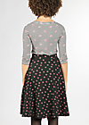 everybody dance skirt, black lady rose, Jerseyröcke, Schwarz