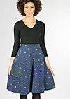everybody dance skirt, dotty night dot, Jerseyröcke, Blau