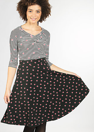 everybody dance skirt, black lady rose, Jersey Skirts, Schwarz