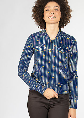 hit machine blouson, dotty night dot, Zipperjacken, Blau