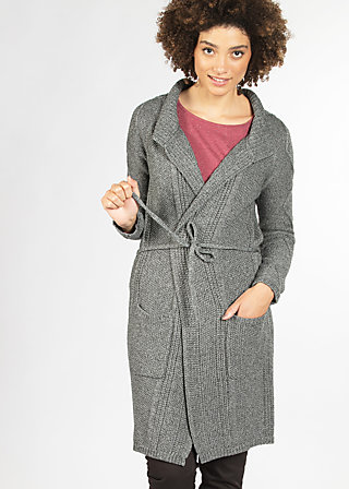 knitshop girls cardycoat, dusty grey, Cardigans, Grau