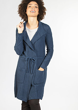 knitshop girls cardycoat, midnight blue, Cardigans, Blau