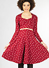 tidy and polite dress, red lady rose, Kleider, Rot