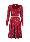tidy and polite dress, red lady rose, Jerseykleider, Rot