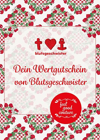 Gutschein, card red