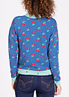 a pineapple a day sweat, young cherry, Pullover, Blau