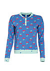 a pineapple a day sweat, young cherry, Pullover & Hoodies, Blau