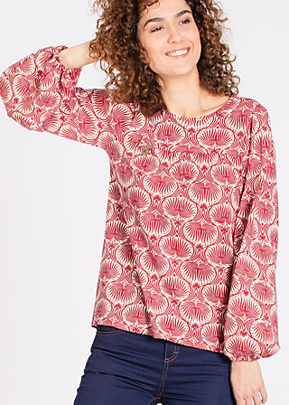 chorus of lovers blouse, boah ahoa, Blusen, Rot