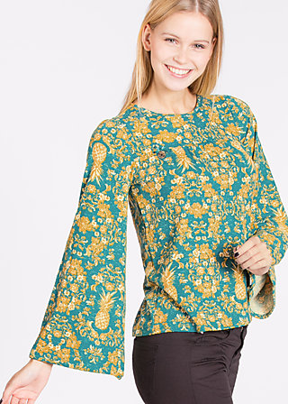 chorus of lovers blouse, funky fruit, Blusen, Türkis