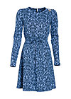 dance the night away robe, betty burlesque, Jerseykleider, Blau