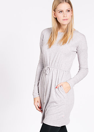logo dress, marshmellow, Kleider, Grau