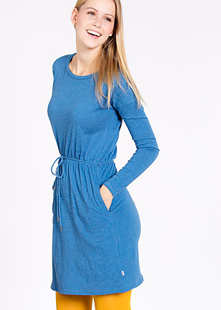 logo dress, smooth blue, Dresses, Blau