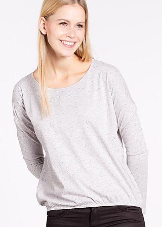 logo longsleeve legère, marshmellow, Shirts, Grau