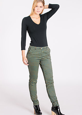 sweetheart cigarette pants, gamble game, Stoffhosen, Schwarz