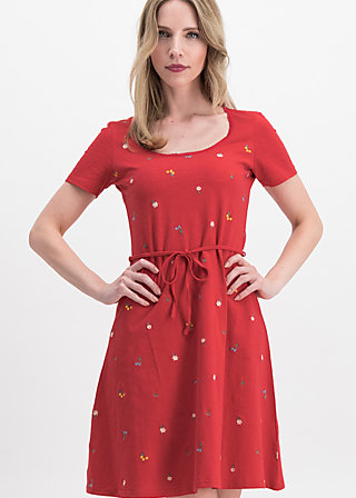 festtagstracht robe , red meadow, Kleider, Rot