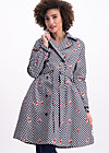 Trench Coat fuchs und hase, black forest vichy, Jackets & Coats, Black