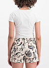hallali peep pants, bird heart, Trousers, White