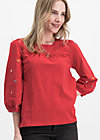 in love with alm oehi longsie, red meadow, Shirts, Red