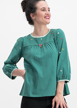 in love with alm oehi longsie, green meadow, Shirts, Blau