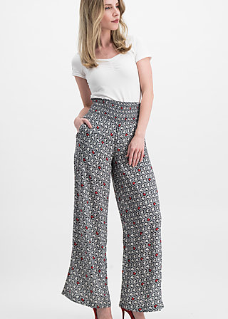 lets do the flatter pants, infinity rose , Trousers, Black