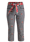 palatschinken picknick pants, black forest vichy, Hosen, Schwarz
