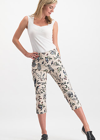 palatschinken picknick pants, bird heart, Trousers, White