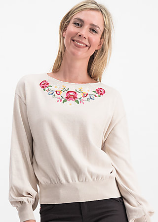 piroschka garden pulli, dove love, Jumpers & lightweight Jackets, White
