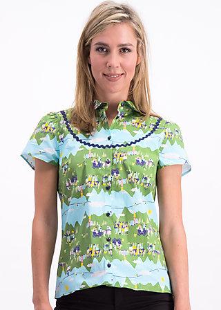 poupette blusette, alpine lovers, Blouses & Tunics, Green