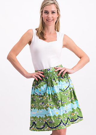 ring my heartbells skirt, alpine lovers, Skirts, Green