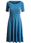 roswitas dolcevita dress, fly over forest, Kleider, Blau