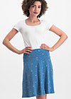 sei vogelfrei skirt , fly over forest, Skirts, Blue
