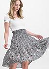 wanderwirbel skirt, infinity rose , Skirts, Black