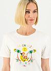 Jersey T-Shirt affenhitze statement, bright white, Shirts, Weiß