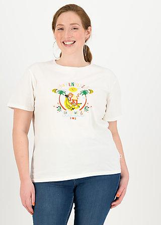 Jersey T-Shirt affenhitze statement, bright white, Shirts, White