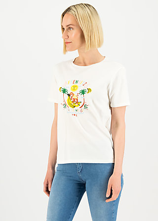 Jersey T-Shirt affenhitze statement, bright white, Shirts, Weiß