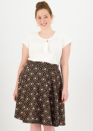 High Waisted Skirt fullmoon, cottage chicken love, Skirts, Black