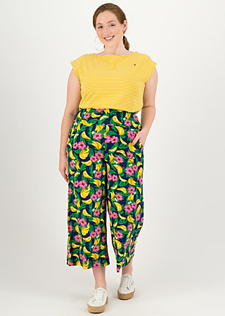 Culottes paradise party, bananakus, Trousers, Blue