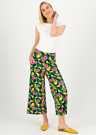 Culottes paradise party, bananakus, Trousers, Blue