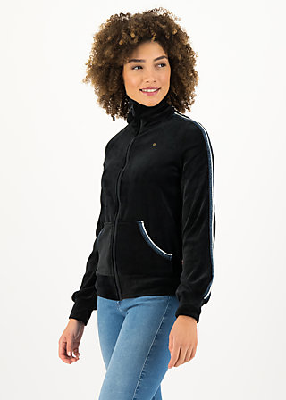 charming turtle zip, black eyeshadow, Pullover & leichte Jacken, Schwarz